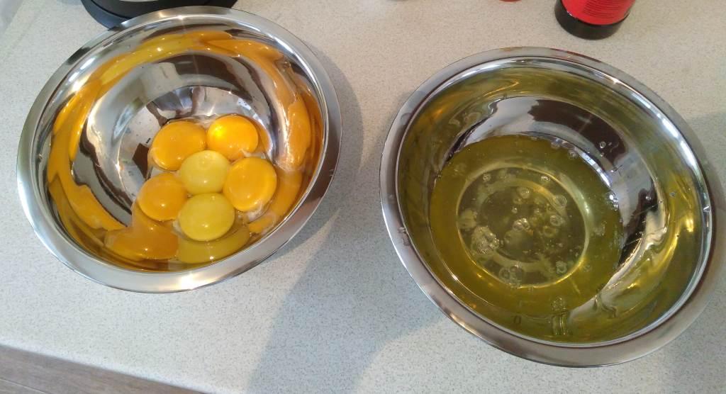 分離蛋白和蛋黃